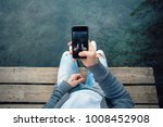 pov shot of man making photo of ... | Shutterstock . vector #1008452908