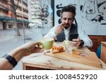 happy and loving hipster... | Shutterstock . vector #1008452920