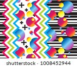 colorful seamless glitch like... | Shutterstock .eps vector #1008452944