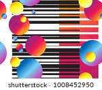 colorful seamless glitch like... | Shutterstock .eps vector #1008452950