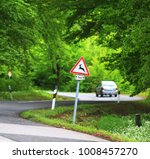 traffic in forest road with... | Shutterstock . vector #1008457270