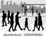 street of the city .   Shutterstock .eps vector #1008458686