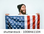 photo bearded young man wearing ... | Shutterstock . vector #1008461104