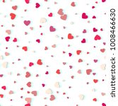 heart confetti of valentines... | Shutterstock .eps vector #1008466630