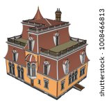 old house in victorian style.... | Shutterstock .eps vector #1008466813