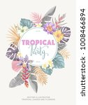 tropical hawaiian vintage... | Shutterstock .eps vector #1008466894