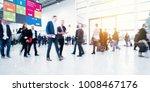 crowd of blurred people | Shutterstock . vector #1008467176