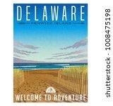 delaware travel poster or... | Shutterstock .eps vector #1008475198