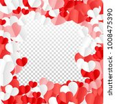 hearts falling background. st.... | Shutterstock .eps vector #1008475390