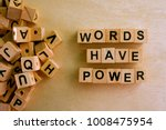 words have power word cube on... | Shutterstock . vector #1008475954