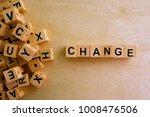change word cube on wood...   Shutterstock . vector #1008476506