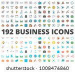 business flat and colored icon | Shutterstock .eps vector #1008476860