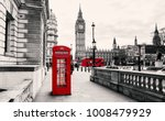 red telephone booth in london | Shutterstock . vector #1008479929