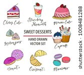 sweet desserts and food vector... | Shutterstock .eps vector #1008481288