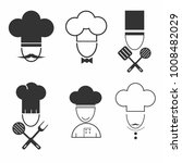 chef cook icon set....   Shutterstock .eps vector #1008482029
