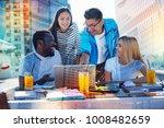 huge interest. cheerful... | Shutterstock . vector #1008482659