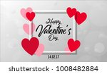 happy valentine's day template... | Shutterstock .eps vector #1008482884