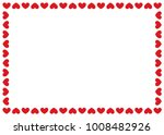 heart border  valentine's day ... | Shutterstock .eps vector #1008482926