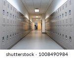 School Hallway With Lockers