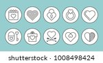 valentine day lovely line icon. ... | Shutterstock .eps vector #1008498424