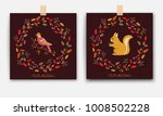 autumn forest card with... | Shutterstock .eps vector #1008502228