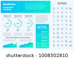 medicine infographic template ... | Shutterstock .eps vector #1008502810