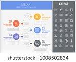 media infographic timeline... | Shutterstock .eps vector #1008502834