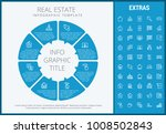 real estate infographic... | Shutterstock .eps vector #1008502843