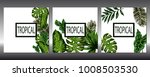 set of covers with tropical... | Shutterstock .eps vector #1008503530