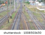 blurred railways view | Shutterstock . vector #1008503650