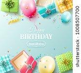 happy birthday greeting card... | Shutterstock .eps vector #1008507700