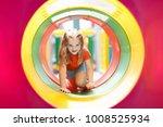 kids climbing and sliding on... | Shutterstock . vector #1008525934