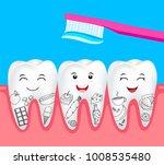 cute cartoon tooth character...   Shutterstock .eps vector #1008535480