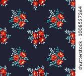 seamless vector ornamental... | Shutterstock .eps vector #1008537364
