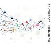 social media concept | Shutterstock .eps vector #1008551476