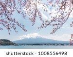 mount fuji japan with cherry... | Shutterstock . vector #1008556498