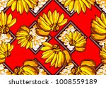 textile fashion african print... | Shutterstock .eps vector #1008559189