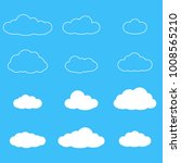 clouds icon set. different... | Shutterstock .eps vector #1008565210