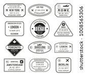 passport stamp set. different... | Shutterstock .eps vector #1008565306