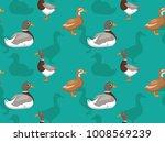 duck saxony cartoon seamless...