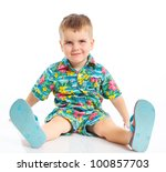 Little Cute Boy Dressed In...