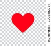 love heart icon | Shutterstock .eps vector #1008583789