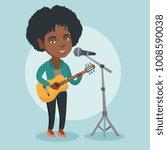 young african american guitar... | Shutterstock .eps vector #1008590038
