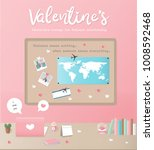valentine's day concept for... | Shutterstock .eps vector #1008592468