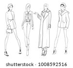 stylish fashion models. pretty... | Shutterstock .eps vector #1008592516