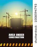 construction silhouettes vector ... | Shutterstock .eps vector #1008594793