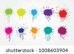 colorful paint splatters.paint...