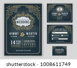 graceful vintage and luxurious... | Shutterstock .eps vector #1008611749