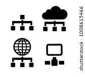 network icon vector | Shutterstock .eps vector #1008615466