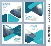 square triangle flyer cover... | Shutterstock .eps vector #1008616333